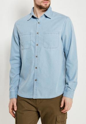 Рубашка джинсовая Modis. Цвет: голубой