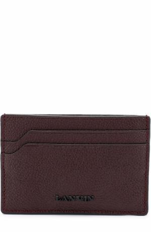 Кожаный футляр для кредитных карт Lanvin. Цвет: бордовый