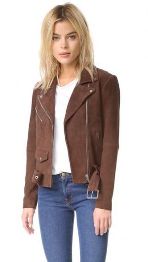 Замшевая куртка Jayne VEDA. Цвет: кедровый коричневый