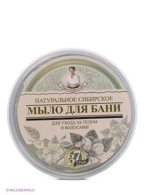 Мыло для бани Черное Агафьи Рецепты бабушки. Цвет: зеленый