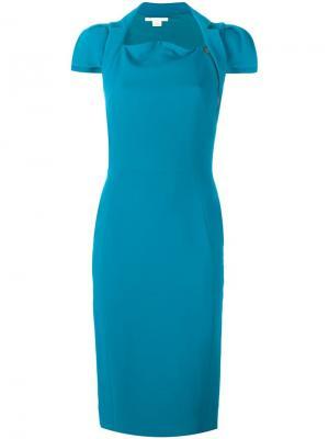 Платье миди Antonio Berardi. Цвет: синий