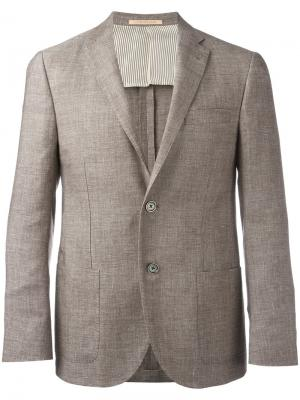 Two button blazer Corneliani. Цвет: телесный