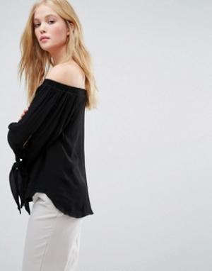 Gestuz Блузка с рукавами на завязках Emma. Цвет: черный