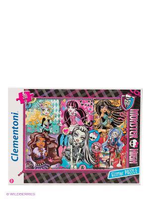 Пазл Monster High Портреты фриков 200 эл. Clementoni. Цвет: черный, розовый