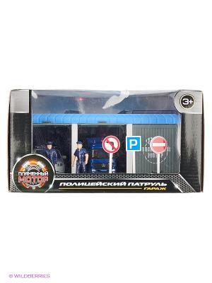 Гараж Полицейский патруль Пламенный мотор. Цвет: синий