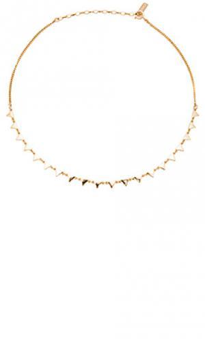 Треугольный чокер joolz by Martha Calvo. Цвет: металлический золотой