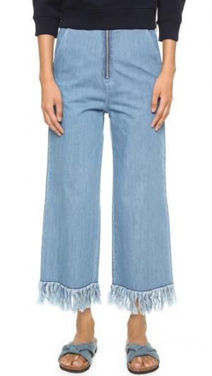 Потрепанные брюки Run Free Vale. Цвет: темный деним
