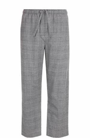 Хлопковые домашние брюки Derek Rose. Цвет: черный