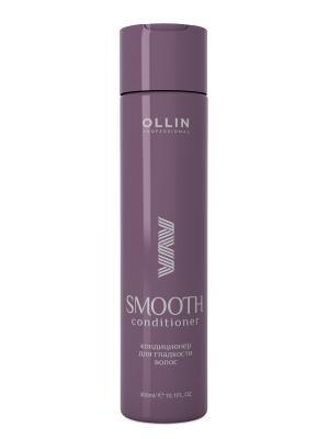 Кондиционер для гладкости волос 300 мл Ollin Professional. Цвет: белый