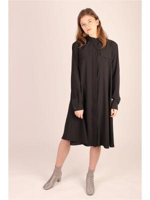 Расклешенное платье-рубашка EMMY