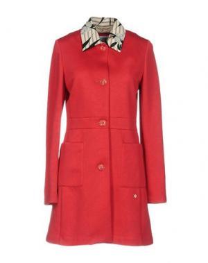 Легкое пальто GEOSPIRIT. Цвет: коралловый