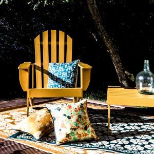 Кресло в стиле Адирондак, Zeda. La Redoute Interieurs. Цвет: горчичный,зеленый,сине-серый