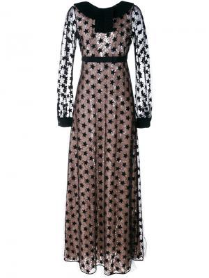 Платье с вышивкой Nº21. Цвет: чёрный