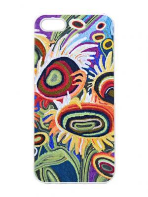 Чехол для iPhone 5/5s Вязаные подсолнухи Арт. IP5-230 Chocopony. Цвет: синий, зеленый, красный, желтый, черный