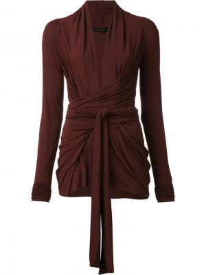 Блузка с запахом Urban Zen. Цвет: красный
