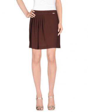 Мини-юбка ANIYE BY. Цвет: коричневый