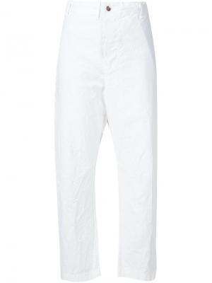 Укороченные брюки Forme Dexpression D'expression. Цвет: белый