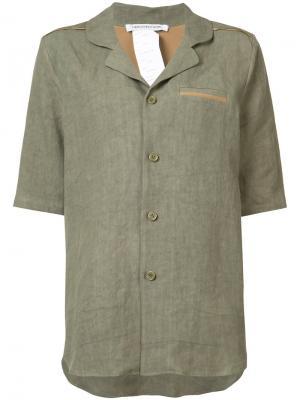 Рубашка свободного кроя Cherevichkiotvichki. Цвет: зелёный