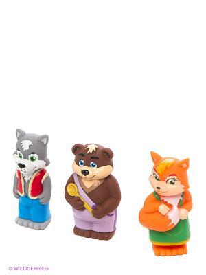 Пластизоль Набор Лисичка, Волк и Медведь 3 шт ЗАТЕЙНИКИ. Цвет: оранжевый, серый, коричневый
