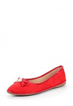 Балетки Ideal Shoes. Цвет: красный