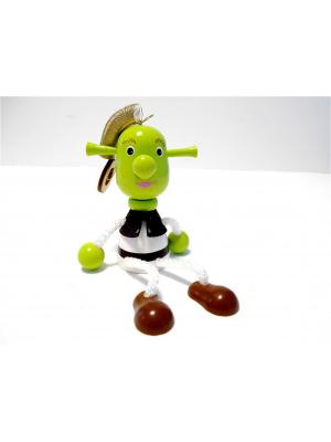 Игрушка подвеска на пружине - Шрек Taowa. Цвет: зеленый