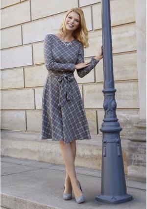 Платье MY STYLE. Цвет: серый (серый с рисунком)