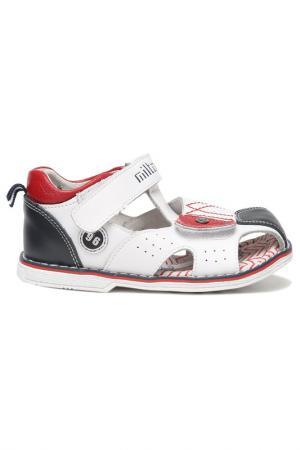 Туфли открытые малодетские MILTON. Цвет: белый
