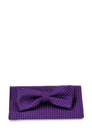Комплект бабочка и платок Carpenter. Цвет: фиолетовый