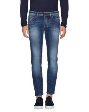Джинсовые брюки HERMAN & SONS. Цвет: синий