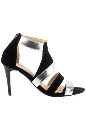 Босоножки на каблуке EVA LOPEZ. Цвет: черный
