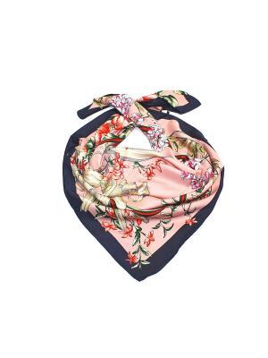 Платок Dolci Capricci. Цвет: темно-синий, бледно-розовый