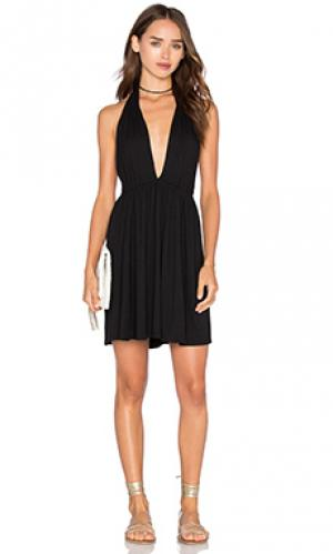 Мини платье с глубоким v-образным вырезом Rachel Pally. Цвет: черный