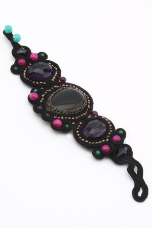 Браслет VANITY HER. Цвет: черный, фиолетовый, зеленый