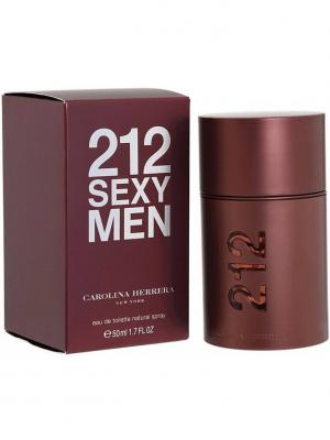 Carolina Herrera 212 Sexy man edt 50 ml. Цвет: бордовый