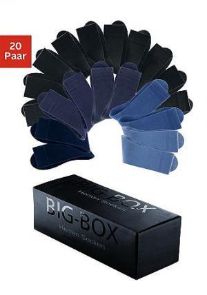 Комплект: мужские носки, GO IN (20 пар) COTTON REPUBLIC. Цвет: чёрный + синие тона