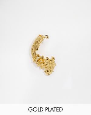 Mordekai Кафф в стиле барокко с покрытием из 24-каратного золота. Цвет: золотой
