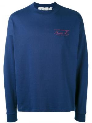 Толстовка с вышивкой Martine Rose. Цвет: синий