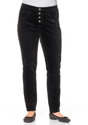 Бархатные брюки sheego. Цвет: темно-серый