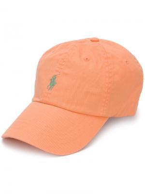 Кепка с вышитым логотипом Polo Ralph Lauren. Цвет: жёлтый и оранжевый