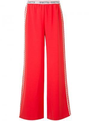 Широкие брюки Vivetta. Цвет: красный