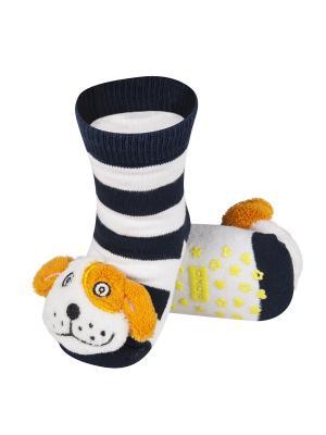 Носки детские с игрушкой Soxo. Цвет: черный, белый