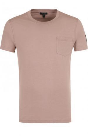 Хлопковая футболка с круглым вырезом Belstaff. Цвет: розовый
