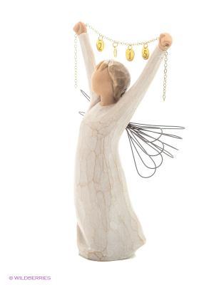 Фигурка Willow Tree (Ангел Нового года 2015, на веревочке). Цвет: белый