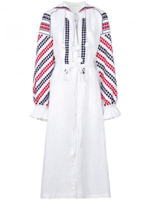 Платье с узором и оборками Vita Kin. Цвет: белый