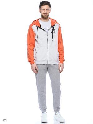 Толстовка Modis. Цвет: оранжевый, серый