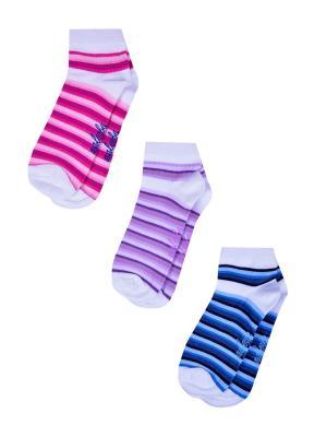 Носки женские,комплект 3шт Malerba. Цвет: белый