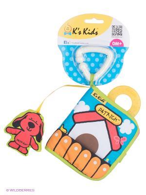 Книжка-игрушка Первая книжка K'S Kids. Цвет: голубой, белый, розовый, салатовый