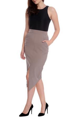 Платье Moda di Chiara. Цвет: black, white, light brown