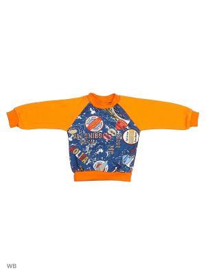 Свитшот Genstaro Baby. Цвет: синий, оранжевый