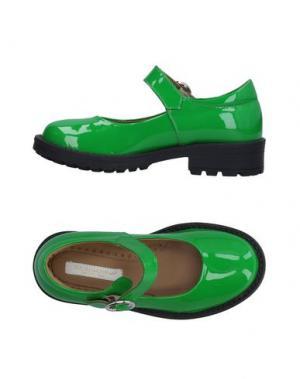 Балетки DOLCE & GABBANA. Цвет: зеленый